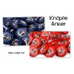 Knopf Anker - blau silber farben MARITIM