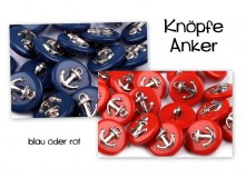 Knopf Anker - blau silber MARITIM