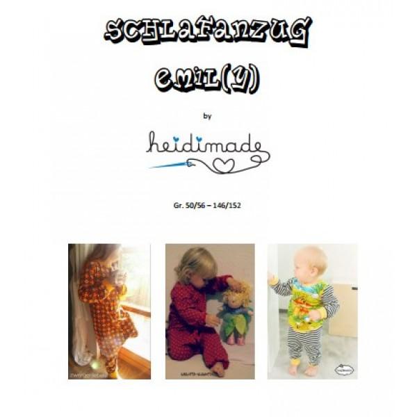 Schlafanzug Emil(y) - Freebook von heidimade - Lollipops for Breakfast