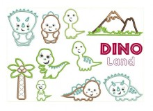 Stickserie Dino Land