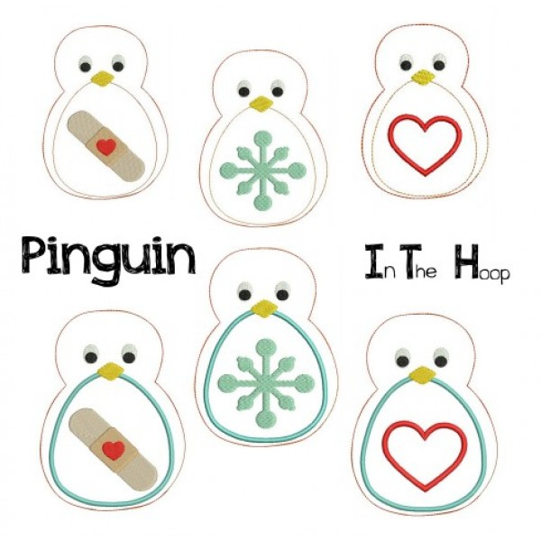Stickdatei - ITH Pinguin - Lollipops for Breakfast