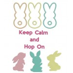 Stickserie - Keep calm and Hop on