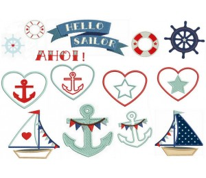 Stickserie - Hello Sailor