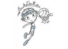 Stickdatei - Basketball Junge