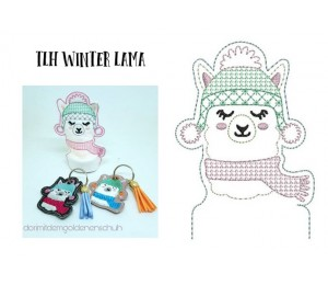 ITH Stickdatei - TLH Winter Lama