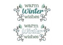 Stickdatei - Warm Winter Wishes