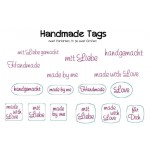 Stickserie Handmade Tags