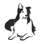 Stickdatei - Collie Silhouette