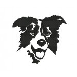 Stickdatei - Border Collie Silhouette