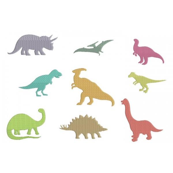Stickserie - Dino Silhouetten - Lollipops for Breakfast
