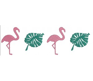 Stickdatei - Flamingo Border