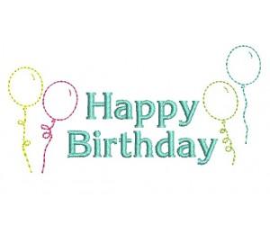 stickdatei happy birthday luftballons doodle lollipops for breakfast. Black Bedroom Furniture Sets. Home Design Ideas