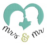 Stickdatei - Mr. & Mrs. Silhouette Herz 2