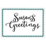 Stickdatei - ITH Postkarte Seasons Greetings