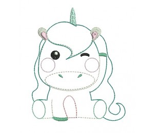 Stickdatei - Sweet Unicorn 2 Appli