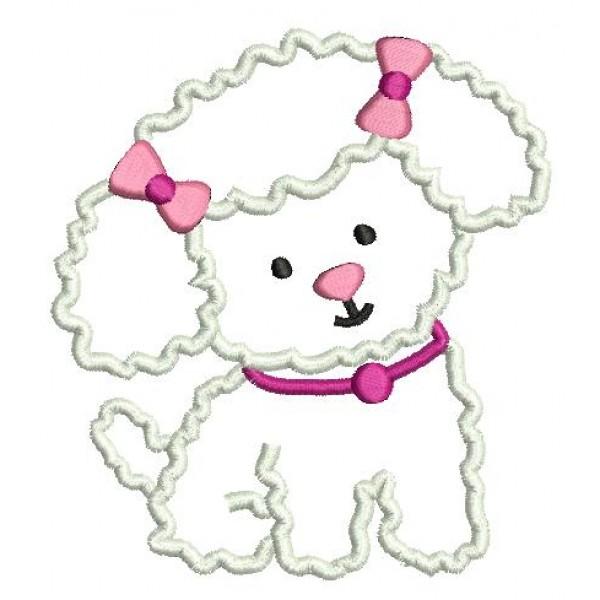 Stickdatei - Hundesalon Hund Bichon - Lollipops for Breakfast