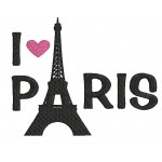 Stickdatei - I love Paris Eifelturm
