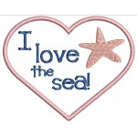 Stickserie - I love the sea - Seestern
