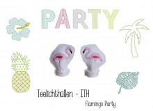 ITH - LED Teelichthülle Flamingo Party