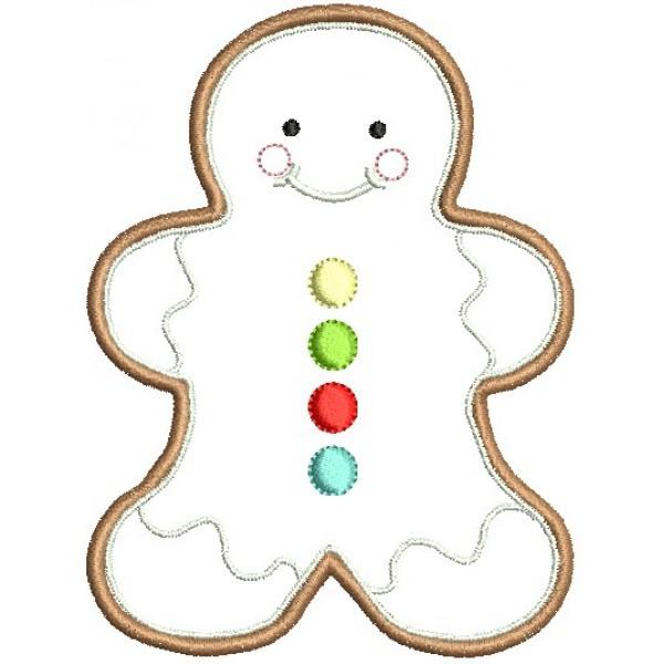 Stickmuster - Gingerbread Christmas Lebkuchenmann - Lollipops for ...