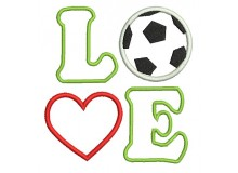 Stickdatei - Love Fußball Appli