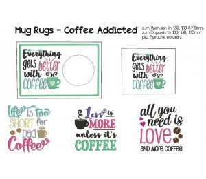 ITH - Mug Rugs - Coffee Addicted