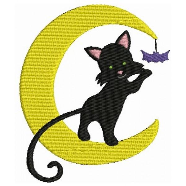 Stickmuster - Halloween Katze Mond - Lollipops for Breakfast