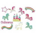 Stickserie - Unicorns