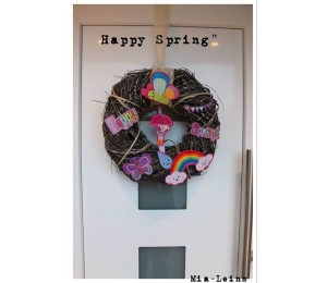 Stickdatei - Happy Spring Schmetterling Appli