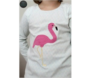 Stickserie - Flamingo Tropical