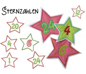 Stickserie - Adventskalender Sternzahlen