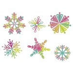 Stickserie - Colored Snowflakes