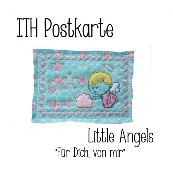 ith postkarte little angels f r dich von mir lollipops for breakfast. Black Bedroom Furniture Sets. Home Design Ideas