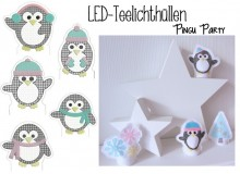 ITH - LED Teelichthülle Pingu Party