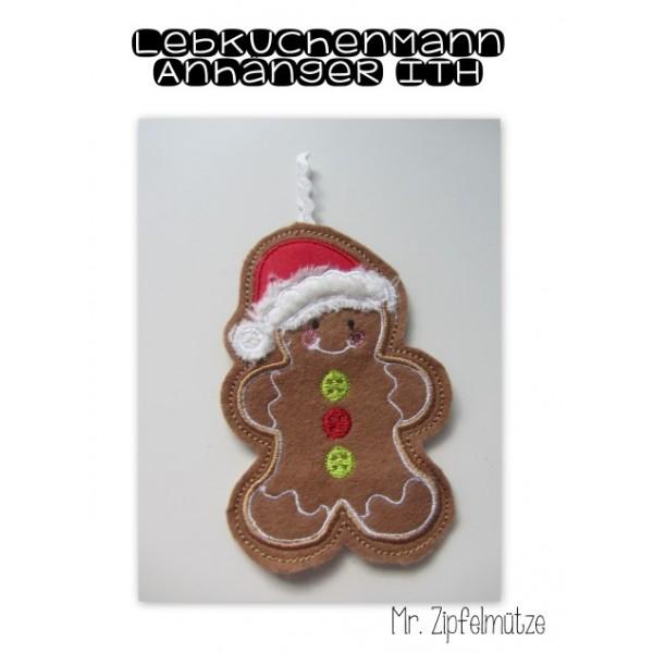 Anhänger ITH - Lebkuchenmann Herr Zipfelmütz Gingerbread Christmas ...