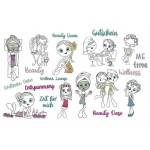 Stickserie - Beauty Girls