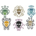 Stickserie - Decorative Skulls