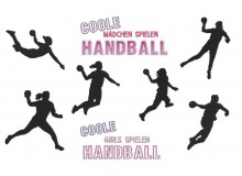 Stickserie - Handball Ladies Silhouette