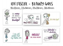 Stickserie ITH - Beauty Girls Tasche
