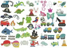 Stickserie - 52 Mini Motive Mix Set 2