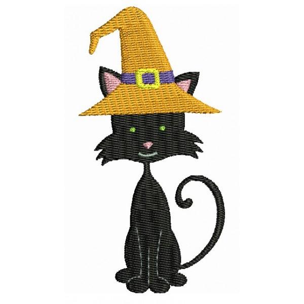 Stickmuster - Halloween Katze Hut - Lollipops for Breakfast