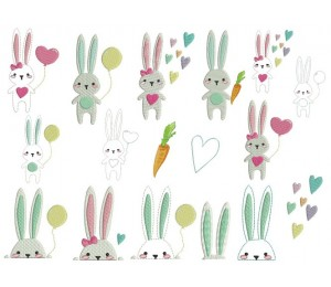 Stickserie - Hopping Bunnies