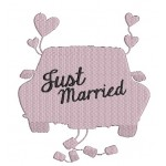 Stickdatei - Just Married Car