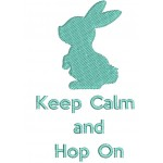 Stickdatei - Keep calm and Hop on 1