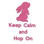 Stickdatei - Keep calm and Hop on 3