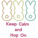 Stickdatei - Keep calm and Hop on 4