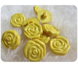 Knöpfe Röschen in gelb
