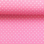 Baumwolle - Pünktchen 2mm rosa
