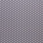 Baumwolle - Sternchen 1cm grau