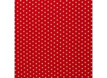 Baumwolle - Sternchen 1cm rot